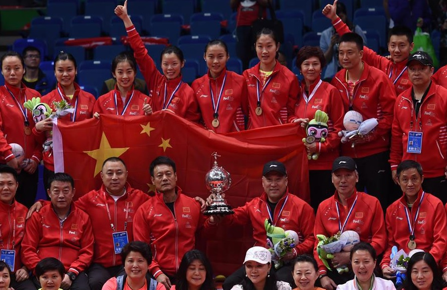 China wins Uber Cup